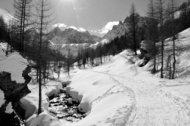 Verso Pratociorliero inverno